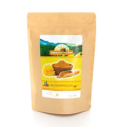 Blütenpollen / Bienenpollen in Premium-Imkerqualität, von ImkerPur, 1 kg, komplett rückstandsfrei, süßlich-mild, (Konventionell, 1 kg)