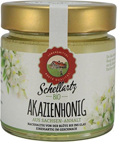 Bio Akazienhonig, kontrollierte Qualität vom deutschen Bio-Imker, von Sammelstellen in Deutschland, naturbelassen, unbehandelt und unfiltriert, 250g