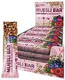 IronMaxx Muesli Bar Vegan, Forest Fruits Flavour, 16 x 30 g (16er Pack)