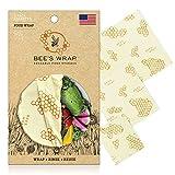 Bee's Wrap Wachspapier, Set mit 3 Stück, Verschiedene Größen, beige, Bienenwachs