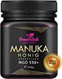 Manuka Honig | MGO 550+ (UMF 15+) | 250g | Das ORIGINAL aus NEUSEELAND | HOCHAKTIV, PUR, ROH & ZERTIFIZIERT | Premium Qualität 100% natürlich | PowerFabrik