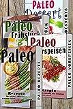 Paleo BOX: Superfood Rezepte, 4 in 1 SET, Paläo zum Abnehmen, Steinzeiternährung,Steinzeitdiät, Powerfood Rezepte (Paleo, Paläo, Steinzeitdiät, ... Honig, Matcha, Quinoa, Detox, Band 1)