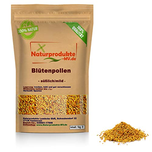 Blütenpollen 1 kg -süßlich/mild- Premium geprüfte Qualität Herkunft: Spanien