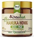 Bio Manuka Honig   250g   100% BIO   mit 400+ MGO   in Deutschland laborgeprüfter Methylglyoxal Wert   reines Naturprodukt aus Neuseeland   aus ethischer Imkerei   vom Achterhof