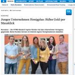Artikel über Honig und Studentenprojekt der HTWG Konstanz