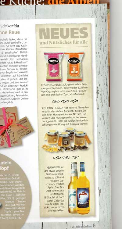 Artikel in der Gourmet-Zeitschrift meine gute Landküche