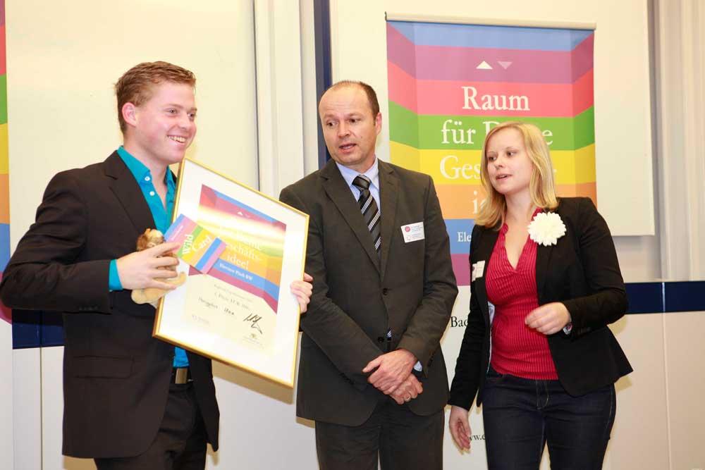 3. Platz und Gewinner des Publikumspreises beim Regionalcup Bodensee des Elevator Pitches BW