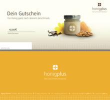 Gutschein 10 Euro für Honigplus Honig Geschenk