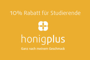 Studentenrabatt 10 prozent auf Honig für Studierende