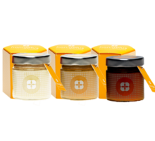 Honig dreier Set mit Verpackung zum Verschenken