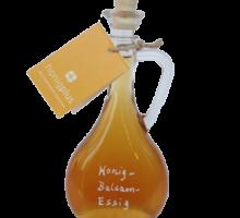 Honigessig, Honig Balsam Essig in Designflasche