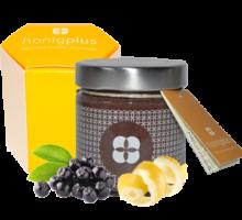Aronia Beere mit Zitronenschalenpulver und Honig